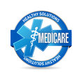 Medicare seal sign illustration design over white Royalty Free Stock Photos