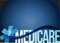 Medicare sign concept illustration design