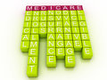 Medicare word cloud concept d with great terms such as health Royalty Free Stock Photo