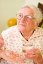 Medications for an old woman Stock Photography