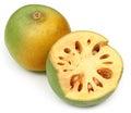 Medicinal Bael fruits Royalty Free Stock Photo
