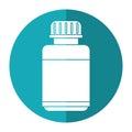 Medicine bottle capsule icon shadow