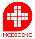 Medicine emblem creative design of Royalty Free Stock Images