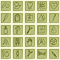 Medicine and Health icons Stock Image