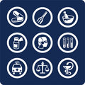 Medicine and Health icons (set 6, part 1) Stock Photos