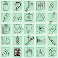 Medicine and Health vector icons Royalty Free Stock Images
