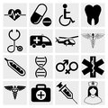Medicine & Heath Care Icons Stock Photo