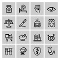 Medicine heath care icons this is file of eps format Royalty Free Stock Photo