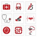 Medicine and heath care icons vector illustration of the Stock Photo