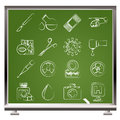 Medicine and hospital equipment icons Stock Photography