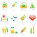 Medicine icon set. Royalty Free Stock Photo
