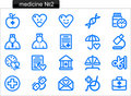 Medicine icons (2) Royalty Free Stock Photos