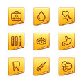 Medicine icons Stock Photos