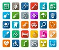 Medicine, icons, colored, flat, vector.