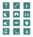 Medicine icons | TEAL series Stock Photos