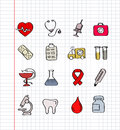 Medicine icons vector black and heath care Royalty Free Stock Image