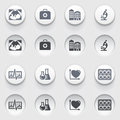 Medicine icons on white buttons set vector for websites guides booklets Royalty Free Stock Photography