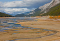 Medicine lake jasper national park alberta canada Stock Photos