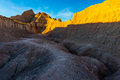 Medicine root trail badlands at sunset national park south dakota Stock Photo