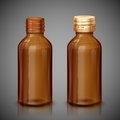 Medicine syrup bottle illustration of medical with cap Royalty Free Stock Photography