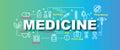 Medicine vector trendy banner