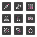 Medicine web icons Royalty Free Stock Photo