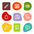 Medicine web icons, colour spots series Royalty Free Stock Photo