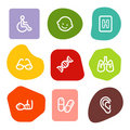 Medicine web icons set 2, colour spots series Royalty Free Stock Photo