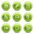 Medicine web icons set Royalty Free Stock Images