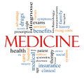 Medicine Word Cloud Concept Royalty Free Stock Photos