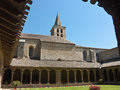 Medieval abbey gardens of St Papoul Royalty Free Stock Photo
