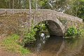 Medieval arch stone bridge in Spain Royalty Free Stock Photography