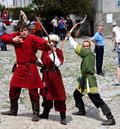 Medieval archers Royalty Free Stock Images