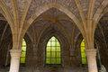 Medieval arches of the famous th century orval abbey in the gaume region in belgium Stock Photography