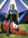 Medieval armour and shield an example of medeival sword sheild Stock Photography