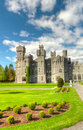 Medieval Ashford castle and gardens Stock Photography