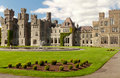 Medieval Ashford castle and gardens - Co. Mayo - I Stock Photography
