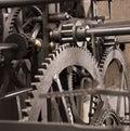 Medieval astronomical clock gearing - interior