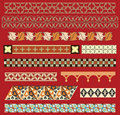 Medieval border ornaments Stock Image