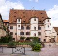 Medieval building named hotel of ebersmunster in selestat alsace france is not a but what might be a mansion or a palace it was Royalty Free Stock Photography