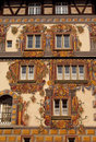 Medieval building with painted facade in Konstanz Royalty Free Stock Photo