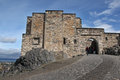 Medieval buildings in Edinburgh castle, Scotland Royalty Free Stock Photo