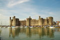 Medieval caernarfon castle uk in gwynedd north west wales Stock Photos