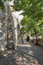 Medieval castle alley in Bratislava, Slovakia.