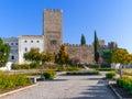 Medieval castle of alter do chao seen from the doze melhores de alter square alto alentejo portugal Royalty Free Stock Photo