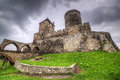 Medieval castle in bedzin th century poland Stock Photos