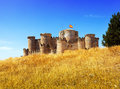 Medieval castle in belmonte castile la mancha spain Stock Images