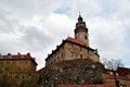 Medieval castle of cesky krumlov czech republic may in in the czech republic may Stock Image