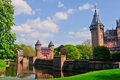 Medieval castle de Haar, Netherlands Royalty Free Stock Images