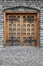 Medieval castle door Royalty Free Stock Photography